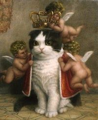 I would put a print of this next to Ned's portrait of General Mittens.