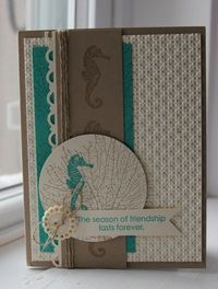 sea horses, stamps and stamp sets.