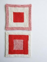 New Log Cabin Washcloths | The Purl Bee