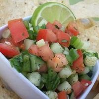 Cool Cucumber Salsa Recipe. I've tried it and it needs more kick but good basic overall recipe.