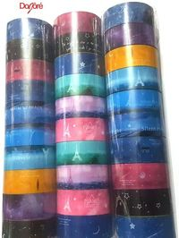 Pack of 10 Assorted Colourful Washi Tapes. Christmas Xmas Decorative Ribbon. Different Styles. £3.49