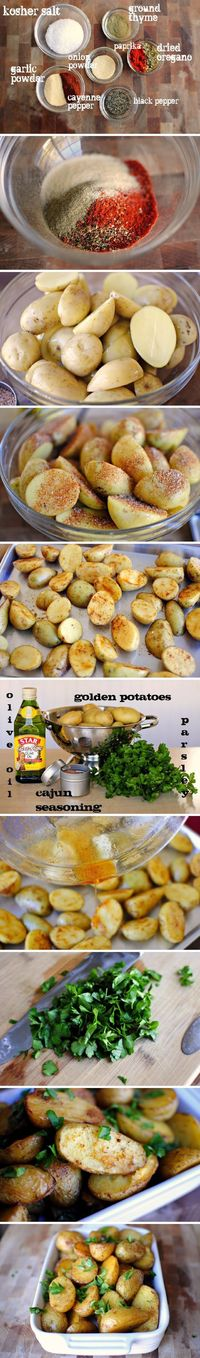Cajun Spiced Potatoes - so delicious, perfect side for any main dish!