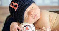 Boston Red Sox Red Sox Hat Brim Hat Blue by MySweetKnittings, $27.00