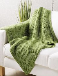 STUNNING Seagrass-Throw - This easy blanket makes a great project for a charity donation. Big needles and open stitches mean it works up in a jiffy FREE PATTERN makes it even better.