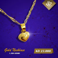 Romance gets an elegant update with this sparkling gold heart shape necklace.