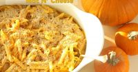 Smokey Pumpkin Mac & Cheese. I like the basis of this recipe for a mac and cheese made with pumpkin, but subbing spaghetti squash for pasta.