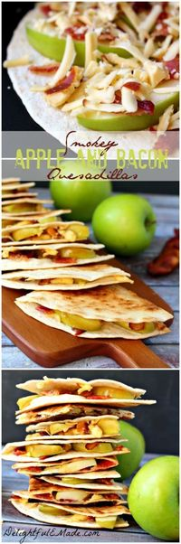 Smoked Gouda, crisp bacon and sweet, tart Granny Smith apple slices come together for the perfect appetizer, lunch, snack or breakfast. Quick, easy and delicious!