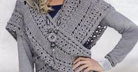 Pretty crocheted vest idea from Russian site with some charts.http://www.liveinternet.ru/users/vse sama/post232213987/