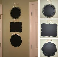 would be awesome for photo booth signs! check thrift store for old trays. add chalkboard paint, done!