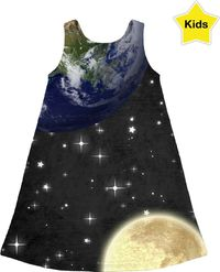 Earth and Moon Children's Dress $50.00