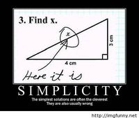 The simplest solutions