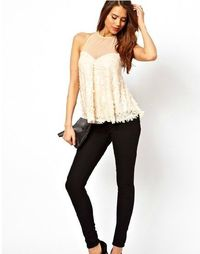 Backless sequins chiffon stitching double small vest