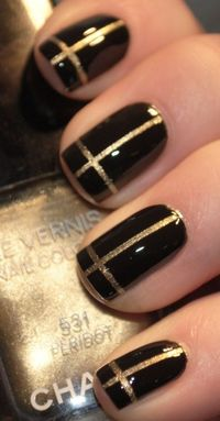 Black and Gold Cross Nails FREE NAIL ART INFORMATION http://www.nailtechsuccess.com/nail-technicians-secrets/?hop=megairmone More Fashion At WWW.THEDILLONMALL.COM Johnston http://johnstonmurphymensclothing.gr8.com