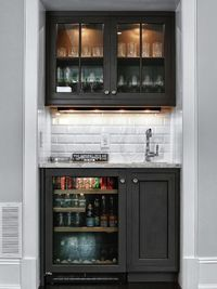 Want to add a bar to your home but don't have a lot of square footage to work with? Get design ideas from these stylish home bars in small spaces featured on HG