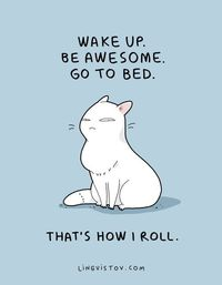 Everyone should always strive to be as awesome as a cat.