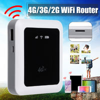 Portable 4G / 3G Mini Pocket Wireless Mobile Hotspot WiFi Repeater Router Dongle 150Mbps Low Calorie Stronger Stable performance