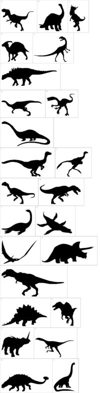 Dinosaur Dingbats Silhouettes Templates....Great for a Boysroom or Dino Party!
