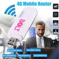 4G LTE Portable Mobile Hotspot Pocket USB WIFI Wireless Router with Antenna for iPhone Smartphone Tablet
