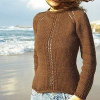 Free knitting pattern : Sinfully Simple Lace Sweater