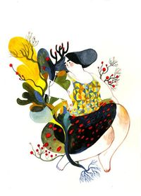 Great colors: Fat Lady by Lisk Feng, via Behance