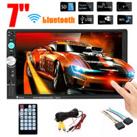7023B 7 Inch 2 Din Car Multimedia Audio MP5 Player Stereo Radio HD bluetooth FM USB SD Aux Support Rear Camera