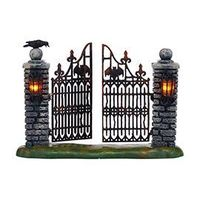 "2015 Intro: Department 56: Products - ""Spooky Wrought Iron Gate"""