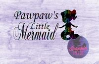 Pawpaws Little Mermaid SVG Cut file for Cricut, and Silhouette Cutting machines $1.75