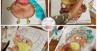 Holidays Around The Blog: It's Turkey Time! Come check out the step by step instructions on how to draw and create these adorable turkeys for Thanksgiving by Proud to be Primary © 2014