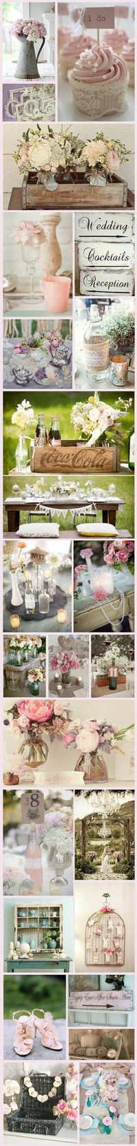 Vintage/Shabby chic wedding ideas Come see me at Lake Norman Antique Mall in Mooresville and The Depot in Concord. Dealer 9M.