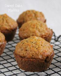 Carrot Cake Muffins-the great flavor of Carrot Cake in a muffin! I can't even tell you why I bought a 2 pound bag of carrots. My kids are't big on cooked carrot