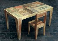 Rupert Blanchard's furniture series made from...recycled crates!