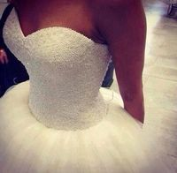 Wholesale Bling Bling Ball Gown Wedding Dresses White With Full Perals Beads Sequins Floor Length Sweetheart Lace- up Back Long Bridal Gowns 2014, Free shipping, $173.83/Piece | DHgate Mobile