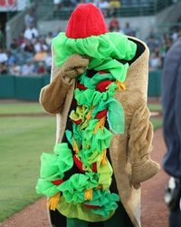 Henry the Puffy Taco, San Antonio Missions mascot; AA Texas League.