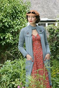 Swagger Coat by Susan Crawford. Book: A Stitch In Time: Vintage Knitting Patterns, 1939-1959 vol. 2 This coat has featured in The King's Speech (worn by the wife of the speech therapist), and in the TV series of Miss Marple. The coat is desi...