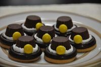 I saw these pilgrim hat cookies and thought they were adorable and something even a toddler could accomplish. I did make a few quick changes from the original I