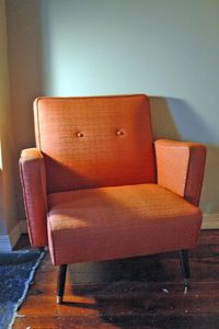 Orange Mid-Century Chair