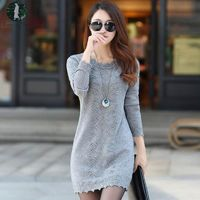 Hot Sale Women Sweater Warm Dress Long Sleeve $48.25