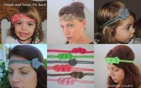 crochet free patterns, tie headband and queen annes lace.