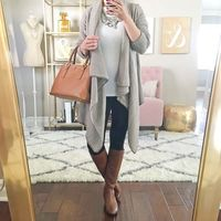 waterfall grey cardigan outfit