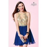 Cobalt Alyce Paris 3646 - Sleeveless Short Chiffon Dress - Customize Your Prom Dress