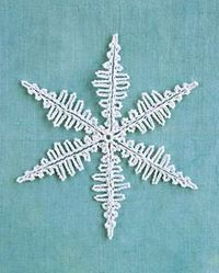 One of nature's best decorating ideas is the snowflake: It adds sparkle to upturned eyelashes, embellishment to bare tree branches. With crocheted versions of t