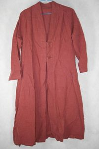 Womens Blouse, brick red long shirt, Women gown, Top for Women $59.00