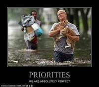 Priorities. This is totally me. I love my Bella!