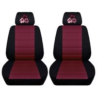 Two Front Seat Covers Fits a Toyota Corolla with an Embroidered Hibiscus Flowers Side Airbag Friendly $89.99