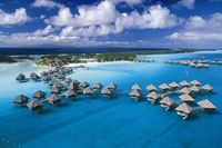 Bora Bora island is likely the most famous tropical island in the world. It is one of the Society Island of French Polynesia in the Pacific Ocean. Bora Bora isl