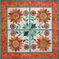 Who doesn't like sunflowers? This creation makes for the perfect gift. Run it through your AccuQuilt GO!, GO! Baby or Studio Fabric Cutter and in no time you have this cheerful wall-hanging or table topper. This pattern is easy to make and fun to choo...