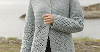 Very pretty and classic #crochet jacket in soft merinosyarn. Pattern now online - free! #garnstudio #aw2014