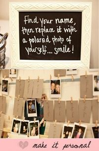 """Fun idea for a """"guest book"""" - we could put all the pictures in a big photo album!"""