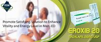 Eroxib 20 Tablets are effective to enhance and promote ability to attain or sustain firm erection in men required to enhance lovemaking session. Email : sales@rsmenterprises.in Website : https://bit.ly/3koZ0WL