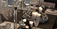 Indian Weddings Inspirations. Silver Tablescape. repostned by #indianweddingsmag indianweddingsmag.com